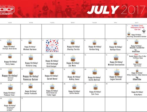 July Calendar | 2017