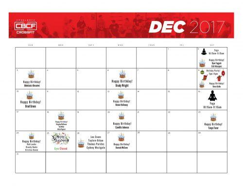 December 2017 | Calendar
