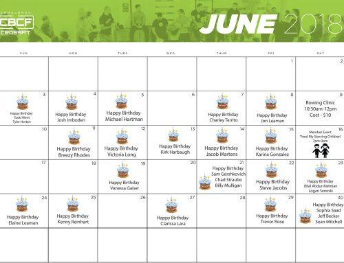 June Calendar | 2018