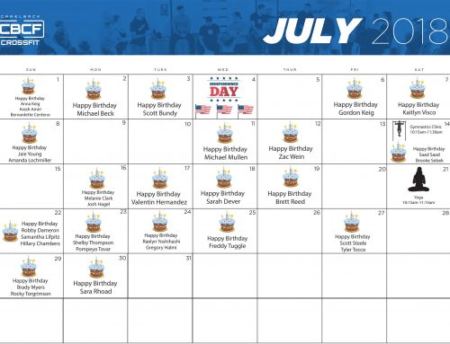 Calendar | July 2018