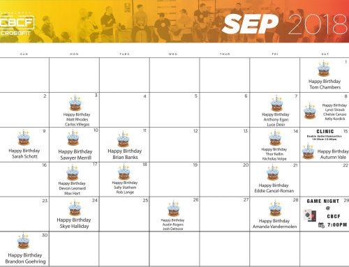 Calendar | September '18