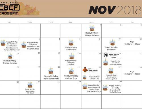 Calendar | November '18