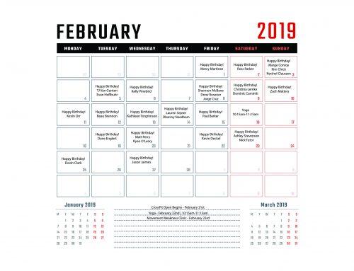 Calendar | February '19