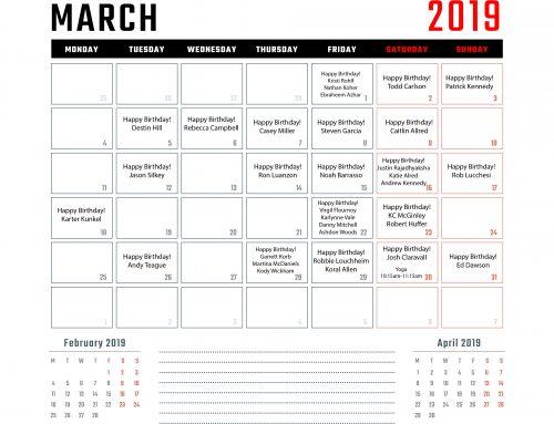 Calendar | March '19